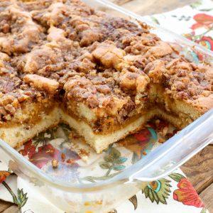Pumpkin Coffee Cake - get the recipe at barefeetinthekitchen.com