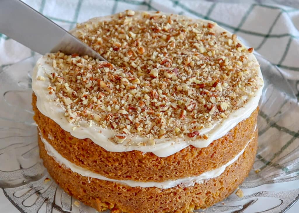 I can not resist this Carrot Cake any time it's in the house!