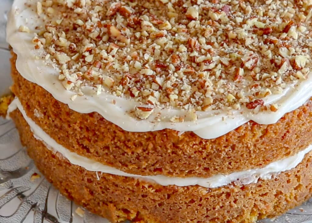 Best Ever Carrot Cake with Cream Cheese Frosting - get the recipe at barefeetinthekitchen.com