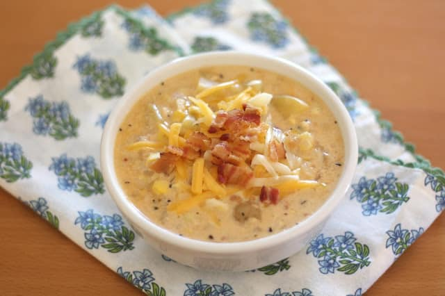 Chipotle Corn Chowder recipe by Barefeet In The Kitchen
