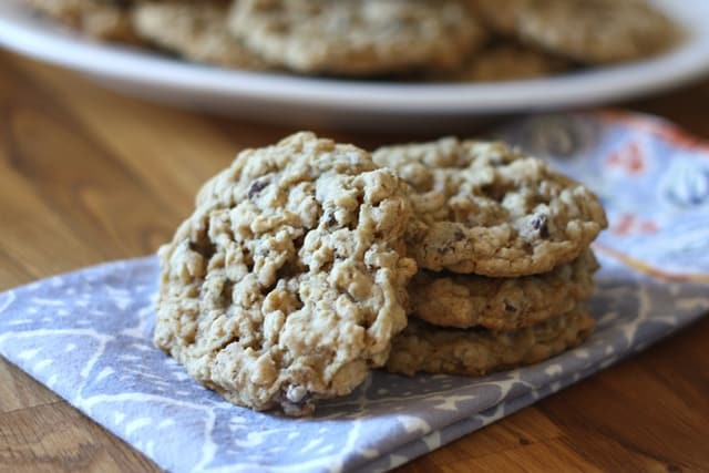 Soft Chewy Oatmeal Chocolate Chip Cookies recipe by Barefeet In The Kitchen