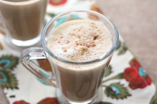 Homemade Pumpkin Spice Latte recipe by Barefeet In The Kitchen