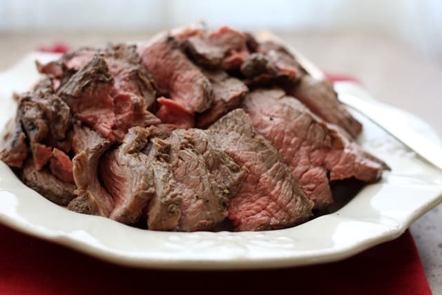 Perfectly Simple and Sliceable CrockPot Roast Beef recipe by Barefeet In The Kitchen