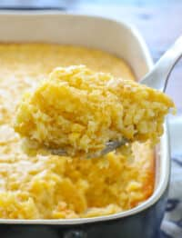 Made from Scratch Corn Pudding is the best corn pudding ever! get the recipe at barefeetinthekitchen.com