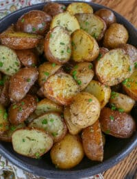 Rosemary Roasted Potatoes - find out how to make them at barefeetinthekitchen.com