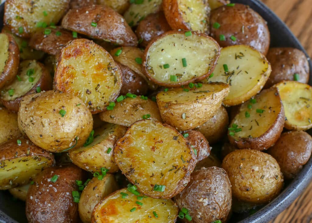 Rosemary Roasted Potatoes are everyone's favorite potato! get the recipe at barefeetinthekitchen.com