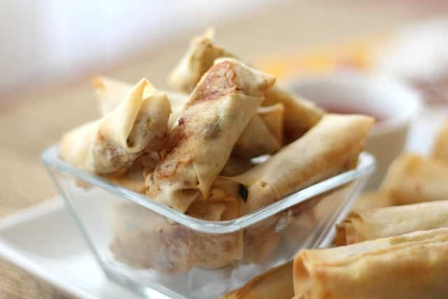 Baked Filipino Lumpia recipe by Barefeet In The Kitchen