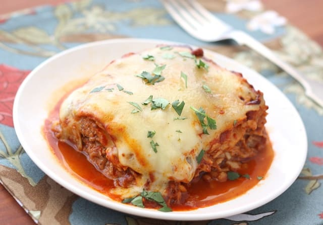 Pulled Pork Enchiladas with Red Chile Sauce recipe by Barefeet In The Kitchen