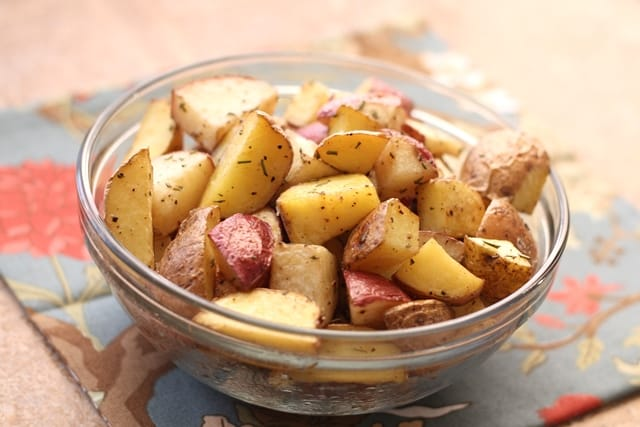 Perfectly Simple Rosemary Roasted Potatoes recipe by Barefeet In The Kitchen