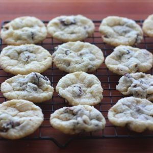 Cherry Chocolate Chip Crinkle Cookies {traditional and gluten free recipes}