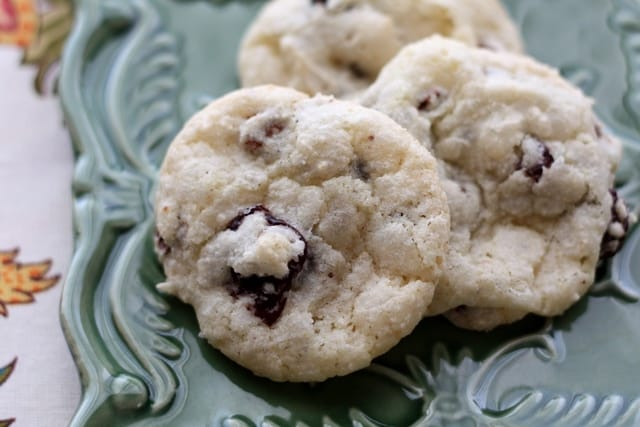Cherry Chocolate Chip Crinkle Cookies recipe by Barefeet In The Kitchen