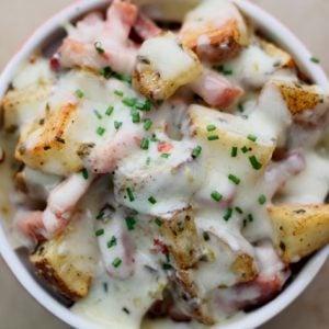 Cajun Tasso with Herbed Potatoes