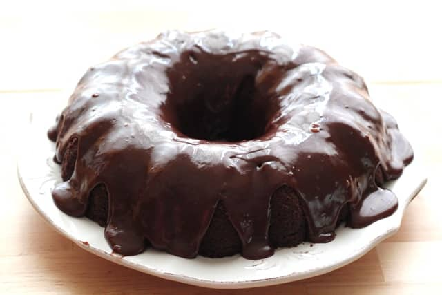 Chocolate Sour Cream Cake Recipe by Barefeet In The Kitchen