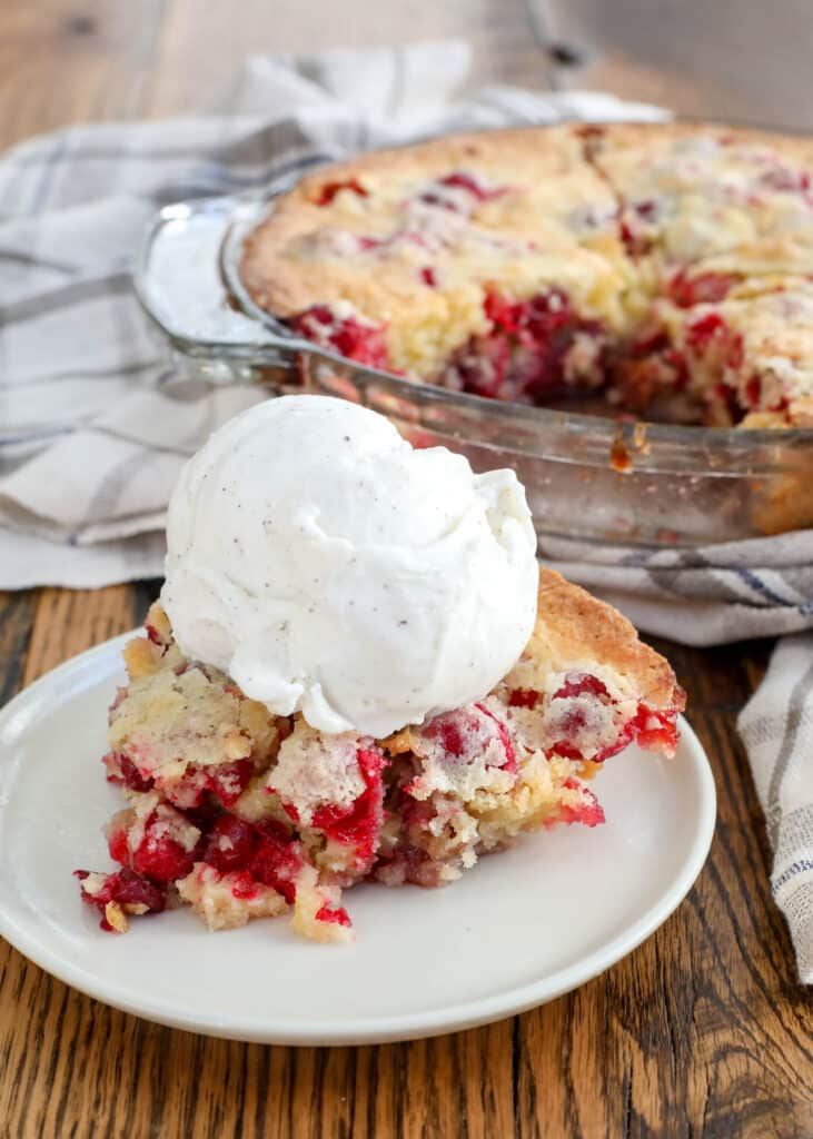 This Cranberry Pie is the reason I stash cranberries in the freezer! - get the recipe at barefeetinthekitchen.com