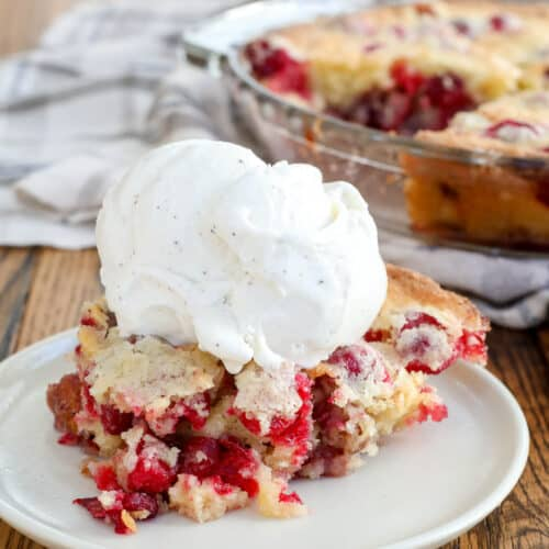 Cranberry Pie is the reason I stash cranberries in the freezer to use all year long! - get the recipe at barefeetinthekitchen.com