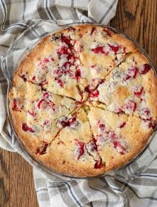 Cranberry Christmas Pie is the reason I stash cranberries in the freezer to use all year long! - get the recipe at barefeetinthekitchen.com