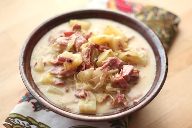 Reuben Soup Recipe by Barefeet In The Kitchen