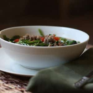 Italian Black Bean, Sausage and Spinach Soup