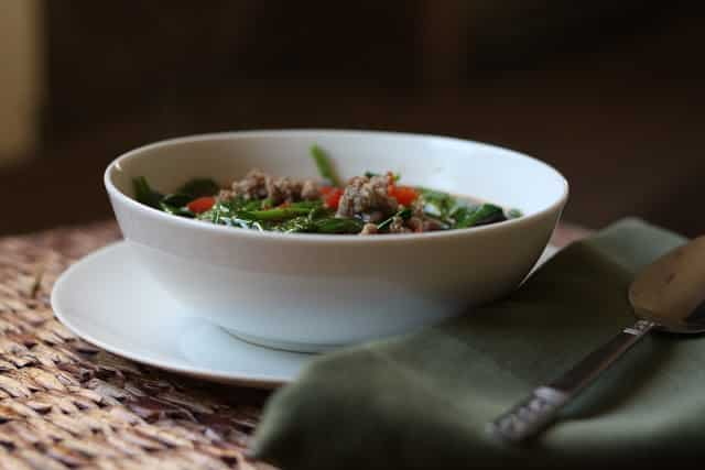 Italian Black Bean, Sausage and Spinach Soup Recipe by Barefeet In The Kitchen