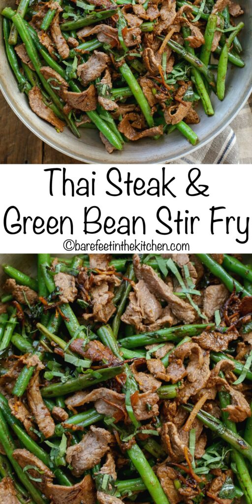Dinner is ready in minutes with this Thai Steak Stir Fry! get the recipe at barefeetinthekitchen.com