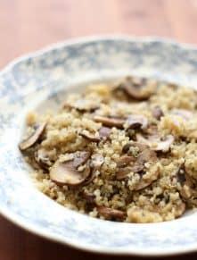 Roasted Garlic Quinoa - get the recipe at barefeetinthekitchen.com
