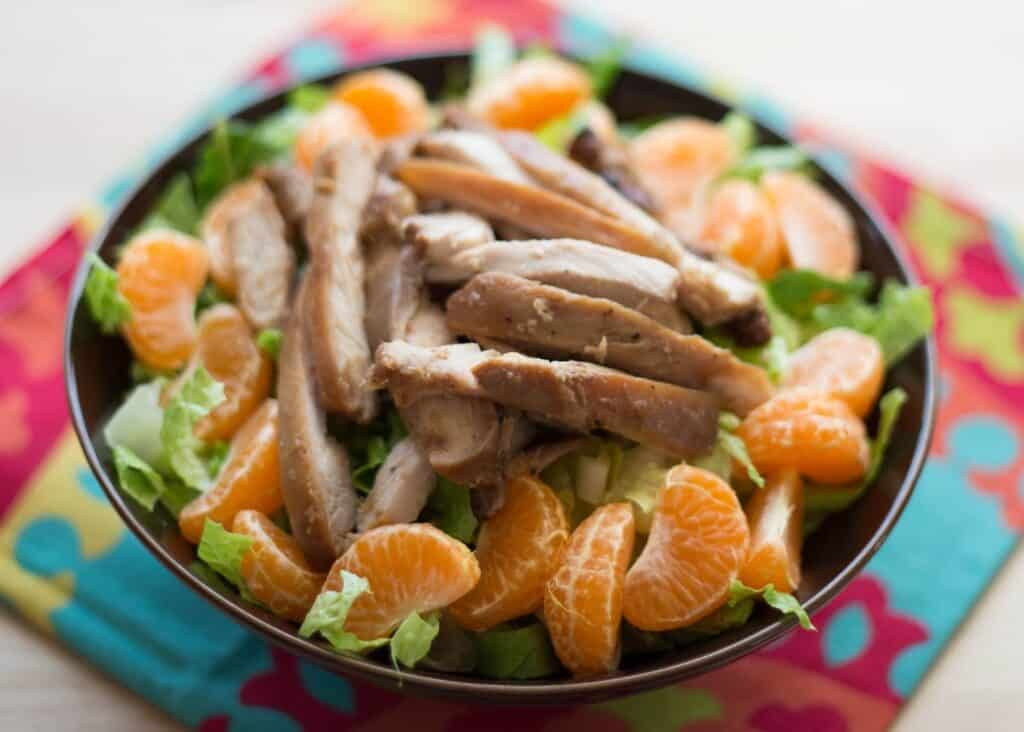Sticky Chicken Chopped Salad recipe