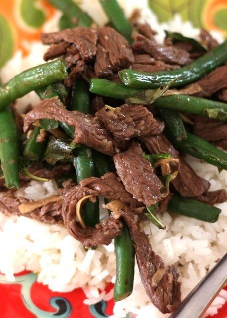 Thai Steak and Green Bean Stir Fry Recipe by Barefeet In The Kitchen