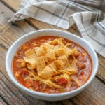 This EASY chili recipe is loaded with fantastic flavor! get the recipe at barefeetinthekitchen.com