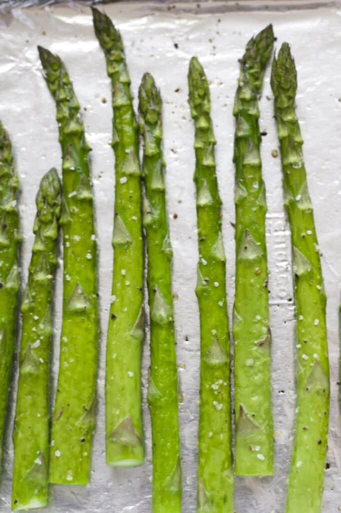 A group of asparagus