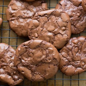 Flourless Chocolate Brownie Cookies {naturally gluten free recipe}