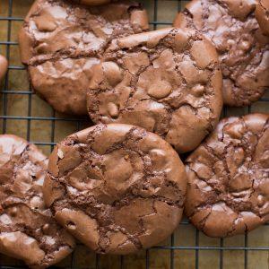 Flourless Chocolate Brownie Cookies {naturally gluten free recipe}