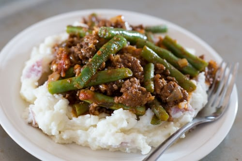 Lebanese Beef and Green Beans recipe
