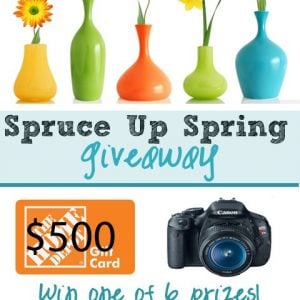 Spruce Up Spring Giveaway – 6 Winners – BIG Prizes!