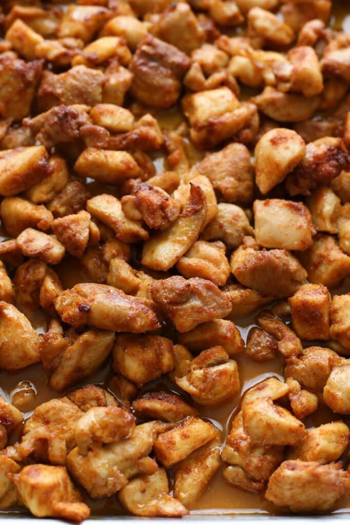 honey spice chicken bites