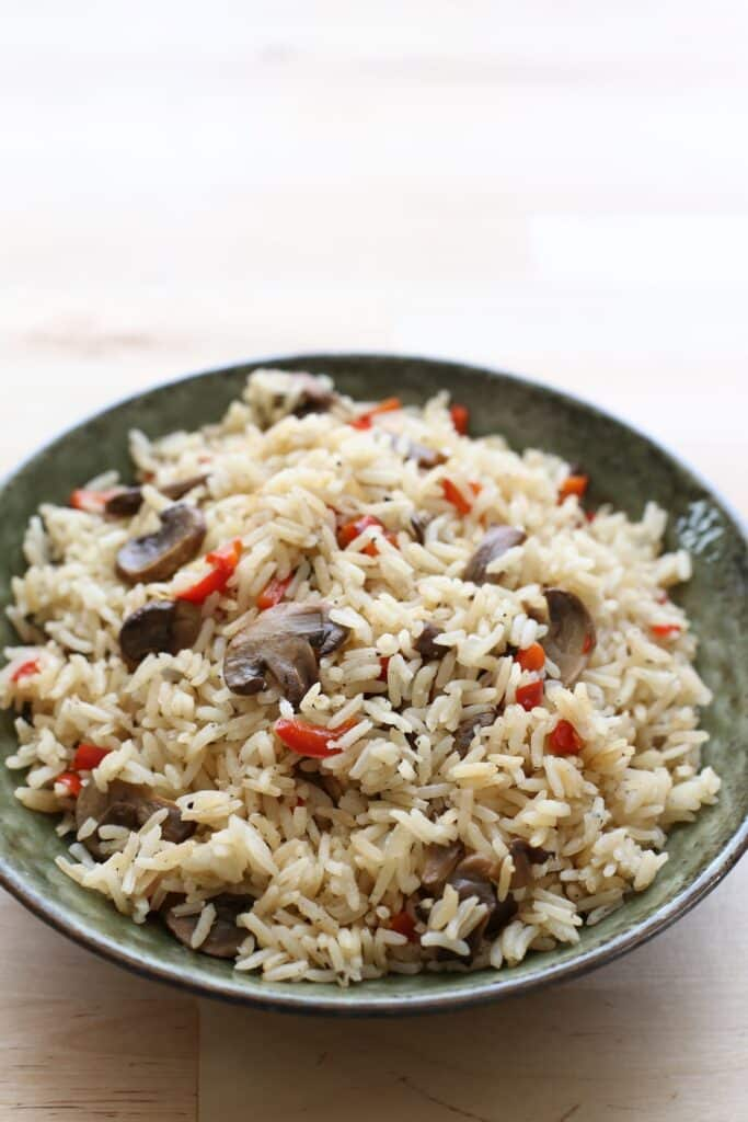 mushroom pepper rice pilaf recipe