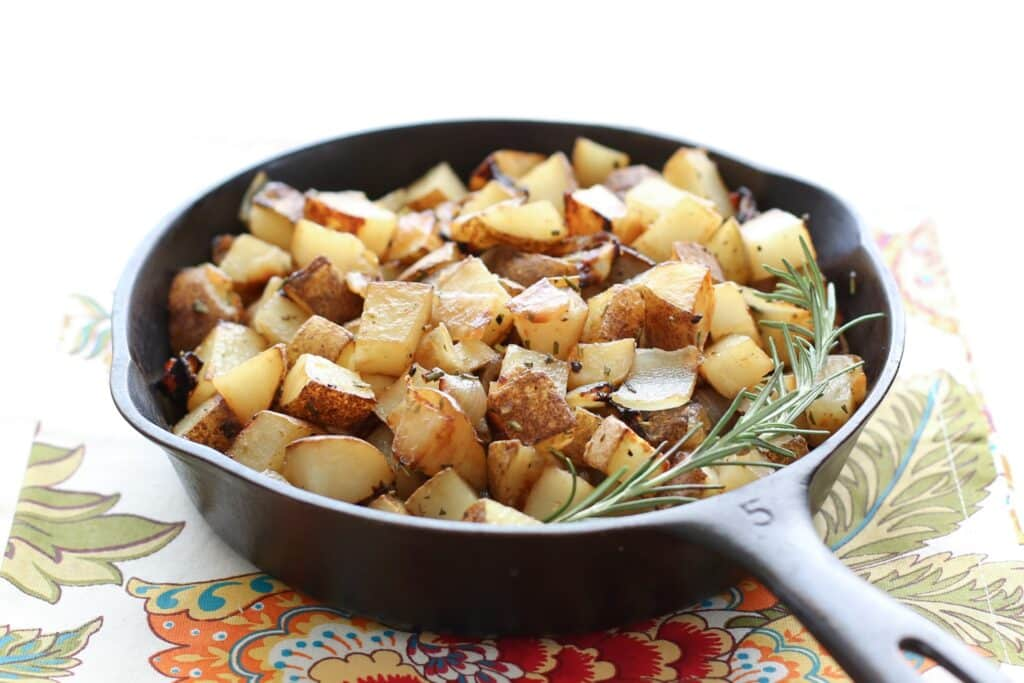 Rosemary Onion Skillet Potatoes Barefeet In The Kitchen