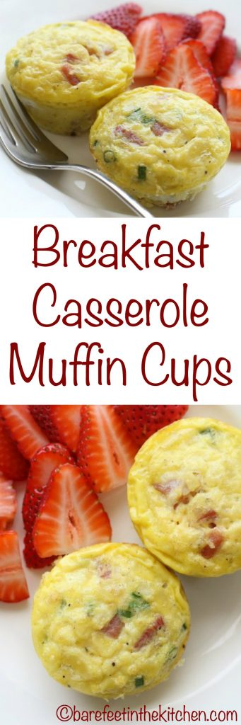 Breakfast Casserole Muffin Cups - get the recipe at barefeetinthekitchen.com