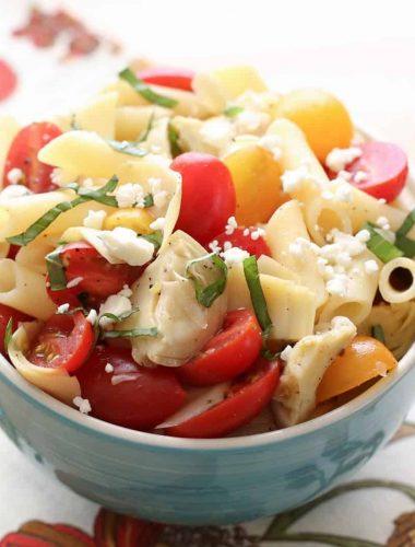 Italian Artichoke Tomato and Pasta Salad