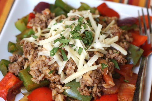 Spicy Mexican Un-Stuffed Bell Peppers recipe by Barefeet In The Kitchen