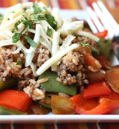 Spicy Mexican Un-Stuffed Bell Peppers