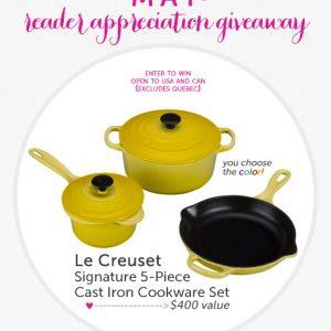 Le Creuset 5-Piece Cast Iron Cookware Set Giveaway