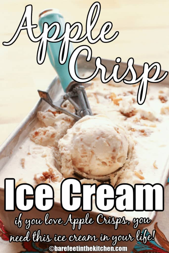 Apple Crisp Ice Cream is a year round favorite