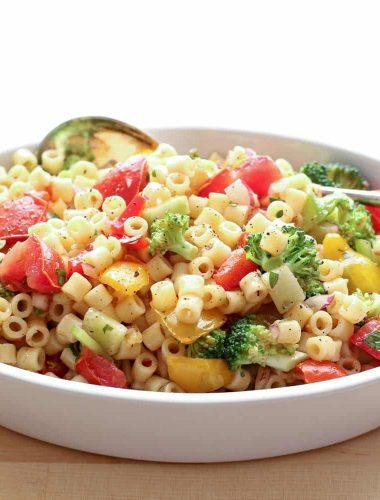 Marinated Vegetable Pasta Salad