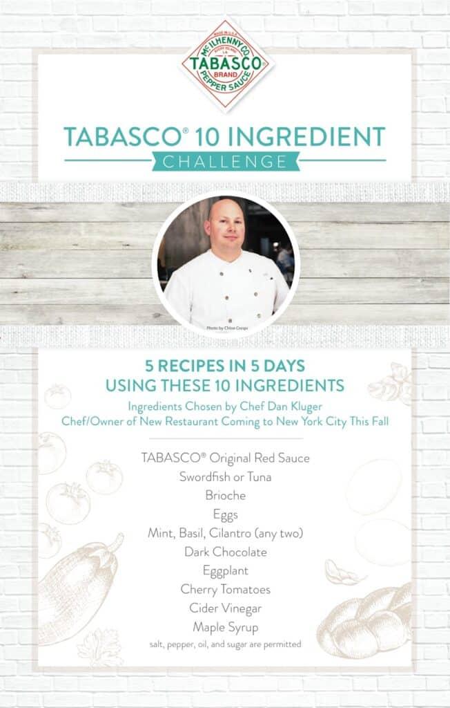 2014 Tabasco Challenge 10 Ingredient List
