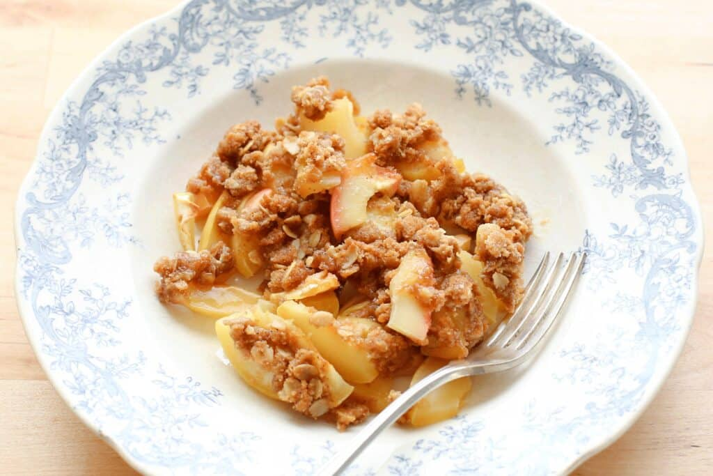 Old Fashioned Apple Crisp - get the recipe at barefeetinthekitchen.com