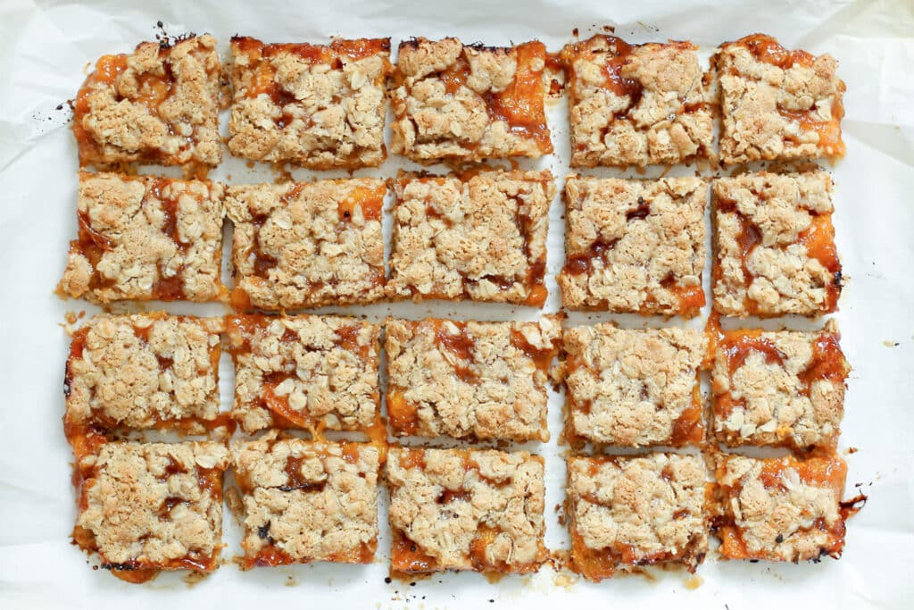 Apricot Crisp Bars (traditional and gluten free recipes included) by Barefeet In The Kitchen