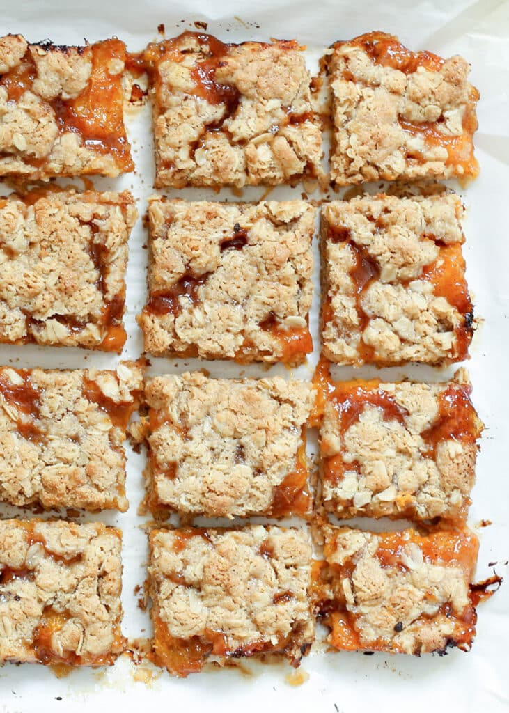 Apricot Crisp Bars (traditional and gluten free recipes) by Barefeet In The Kitchen