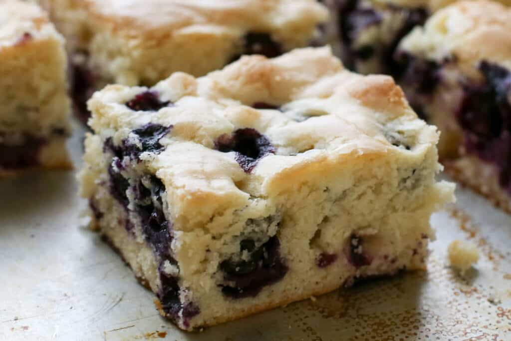 Blueberry Snack Cake Traditional And Gluten Free Recipes By Barefeet In The Kitchen
