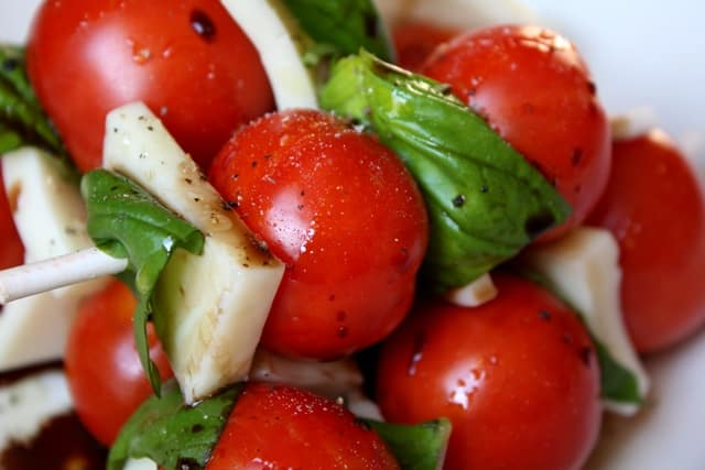 Caprese Salad Skewers recipe by Barefeet In The Kitchen