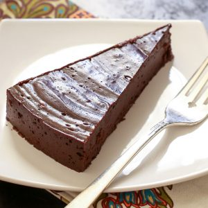 "Flourless ""Hot"" Chocolate Cake {naturally gluten free recipe}"